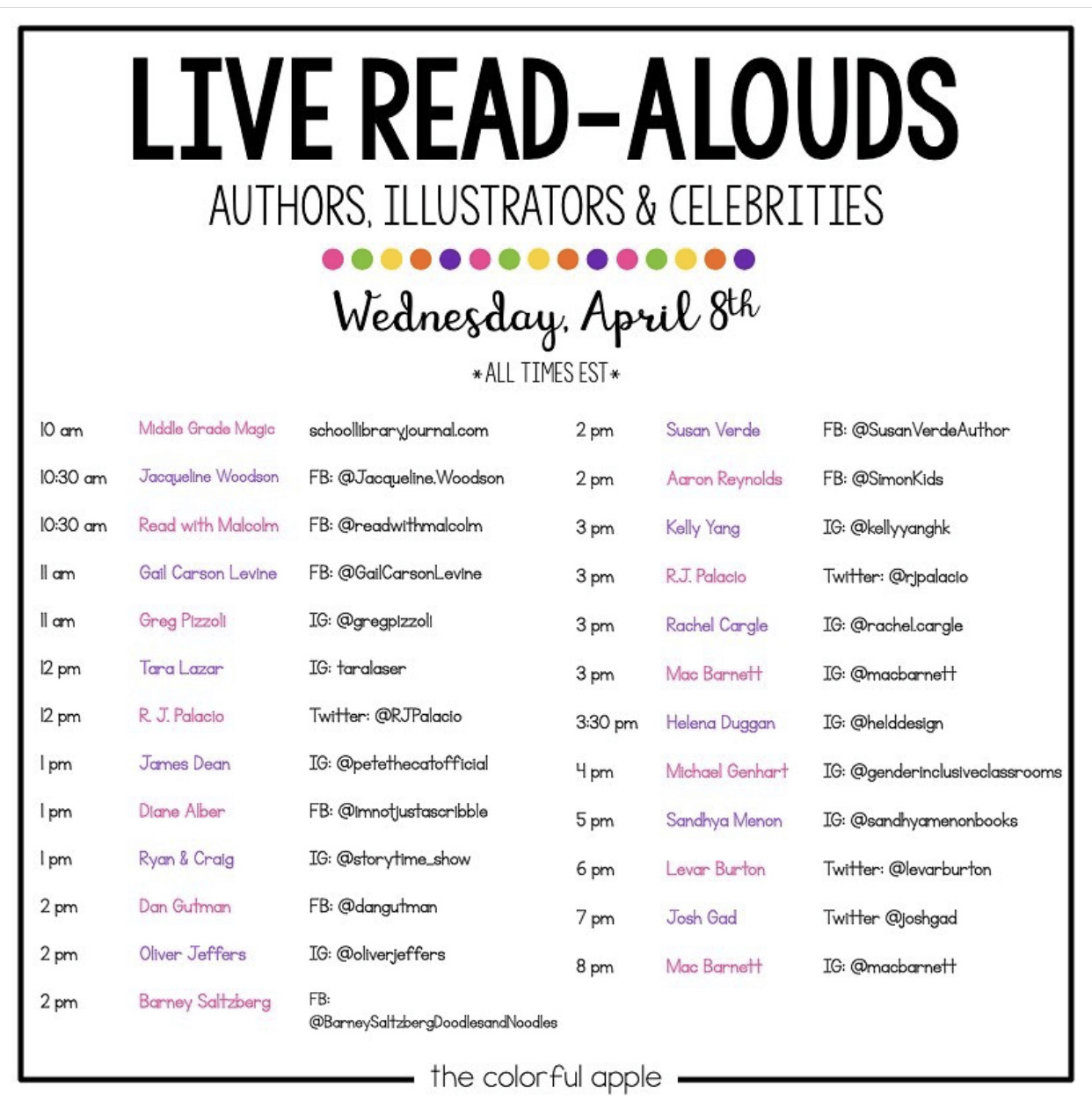 Live Read-Alouds